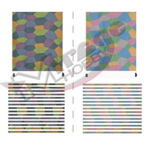LOZENGE  DAY, FIVE COLOR, DARK & LIGHT PATTERN (WW1) [for 1 model kit]