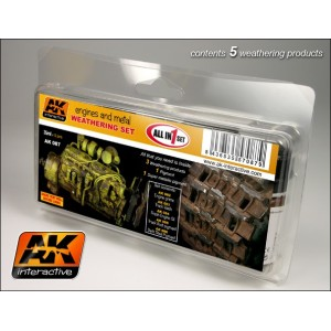 Ak 087 Engines and Metal Weathering Set